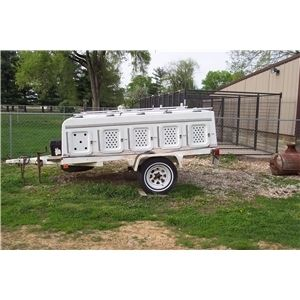 10 Hole Fiberpro Fiberglass Dog Trailer Ad 59559